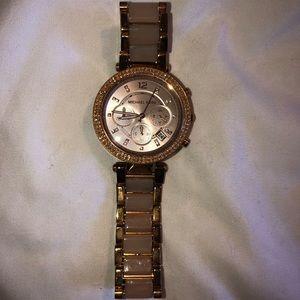 Michael Kors Pink & Rose Gold Watch